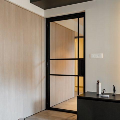 Moderne smeedijzeren binnendeur in Houthalen