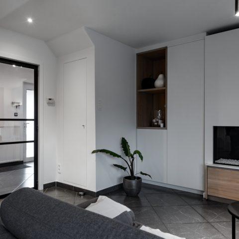 Stalen binnendeur woonkamer in Maasmechelen