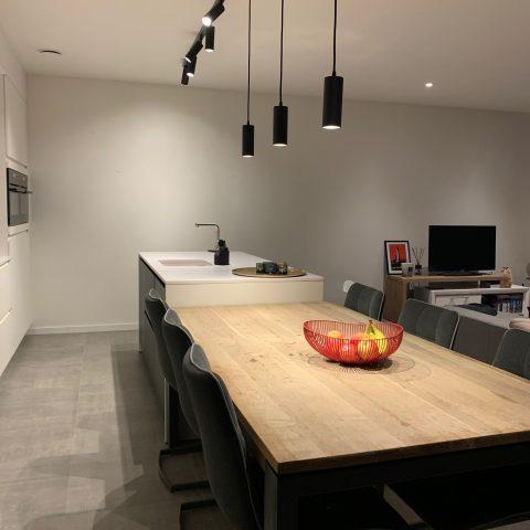 Keuken met design verlichting