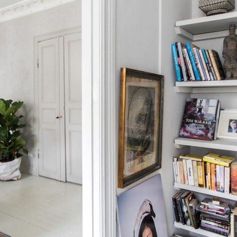 Fresco kalkverf bij interieurstyliste Tone Kroken