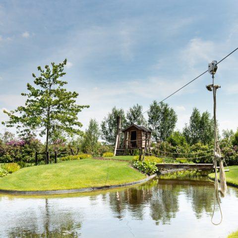 Tuin met zwembad en zwemvijver in Midden-Nederland