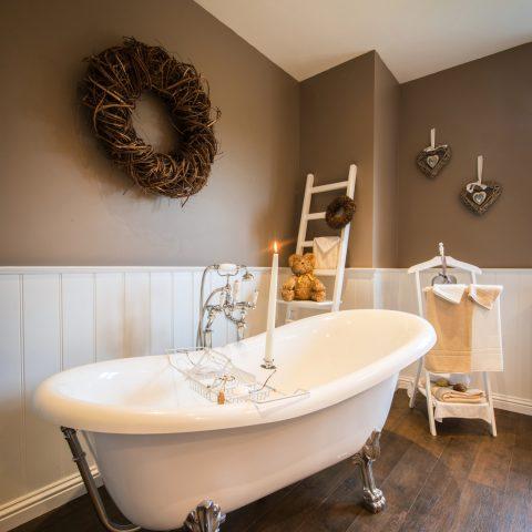 Badkamer landelijke cottage woning