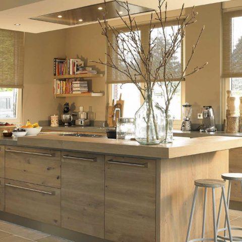 Luxe handgemaakte keukens: warme keuken