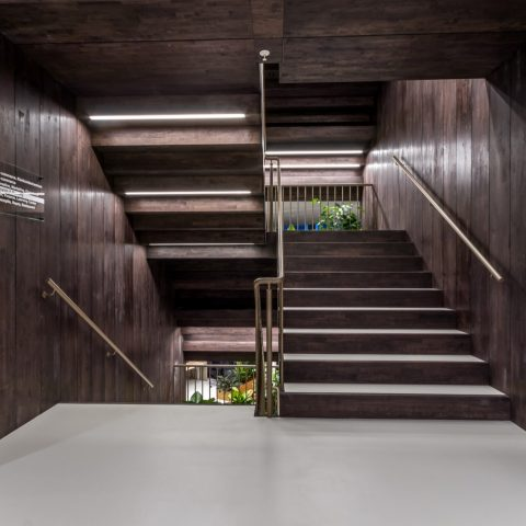 Multifunctioneel trappenhuis hoofdkantoor Bijenkorf