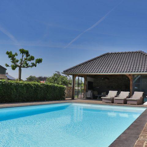 Zwembad met luxe terras
