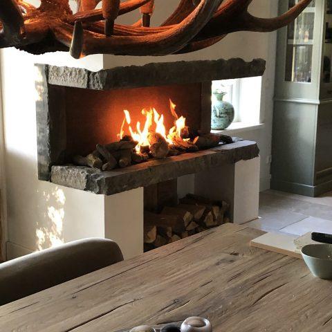 Gemetselde designhaard gas of hout