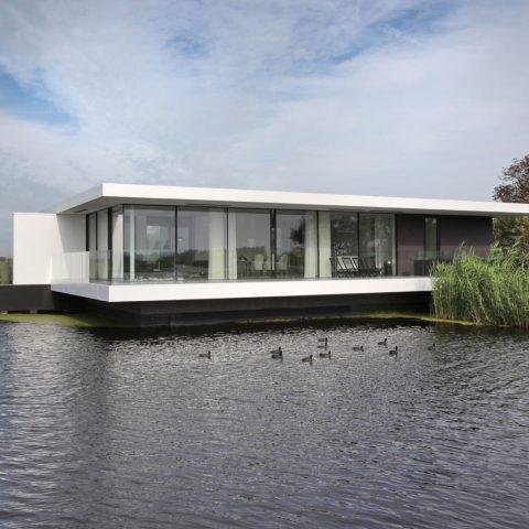 Luxe villa voorzien van Sky-Frame in combinatie met Schüco