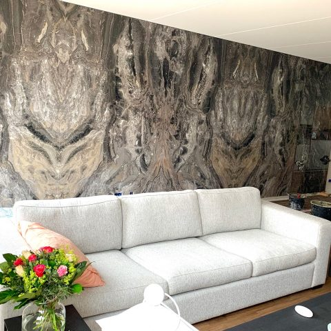 Exclusief natuursteen woonkamer