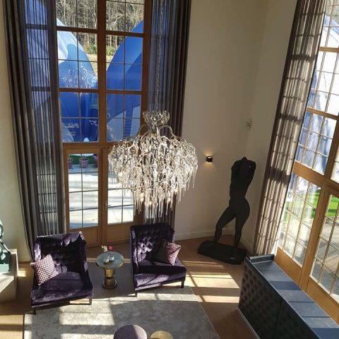 Exclusieve raambekleding en decoratie villa in Brasschaat