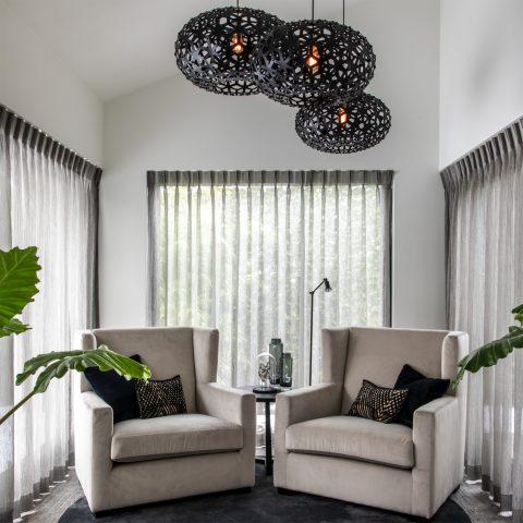 Exclusieve raamdecoratie en interieur villa project