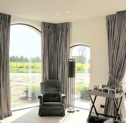 Raambekleding landelijke villa project B in de Kempen