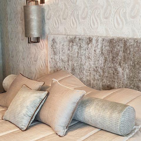 Totaalinrichting en decoratie luxueuze slaapkamer