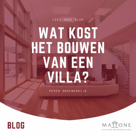 Wat kost het bouwen van een villa?